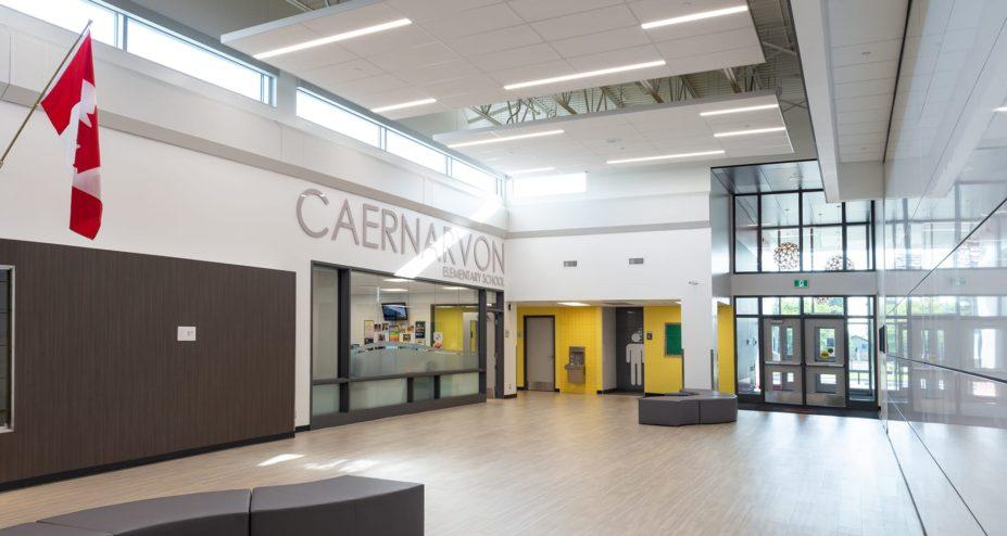 Caernarvon Elementary School entrance interior