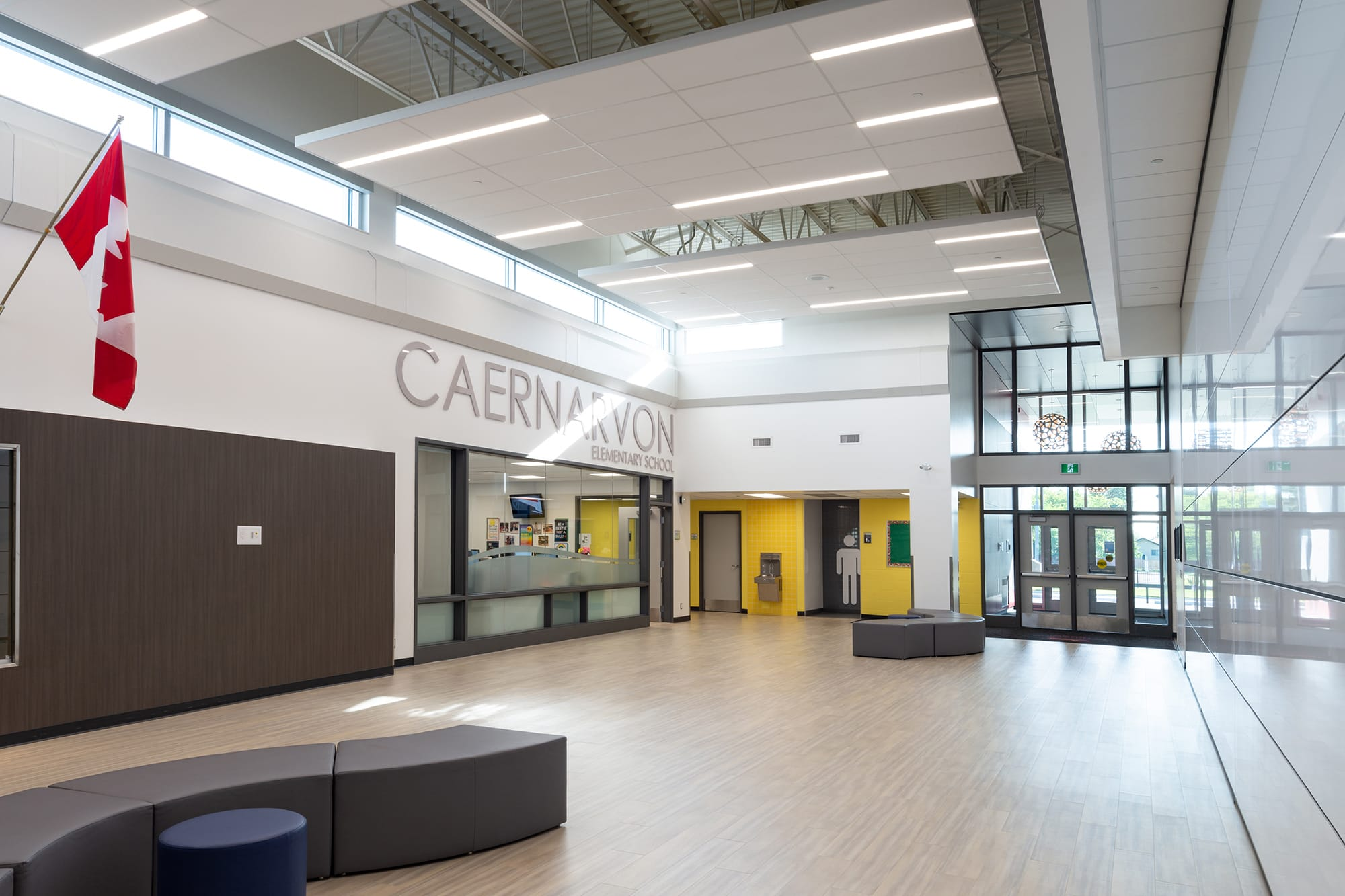 Caernarvon Elementary School entrance interior