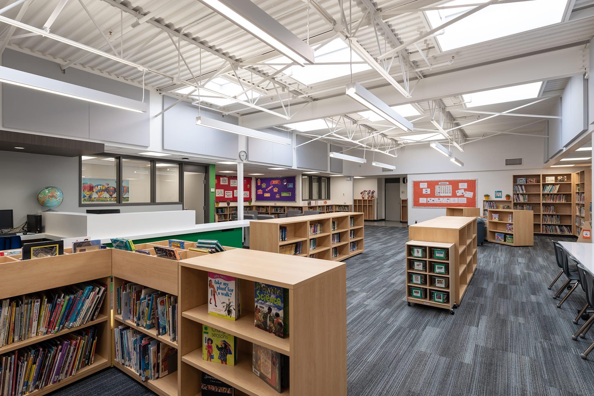Caernarvon Elementary School library