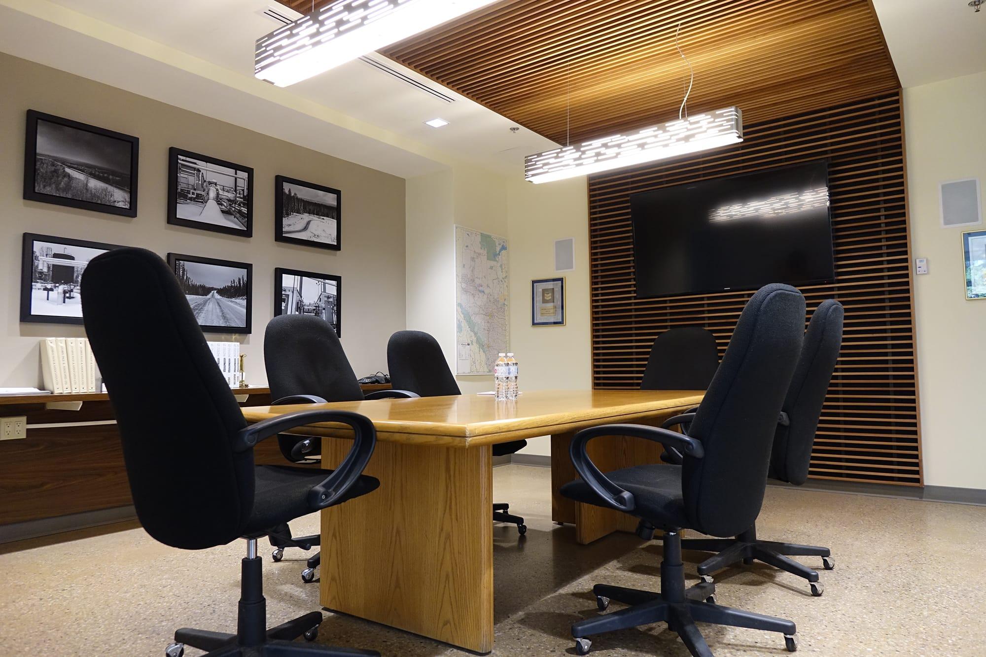 Chris Page and Associates interior boardroom