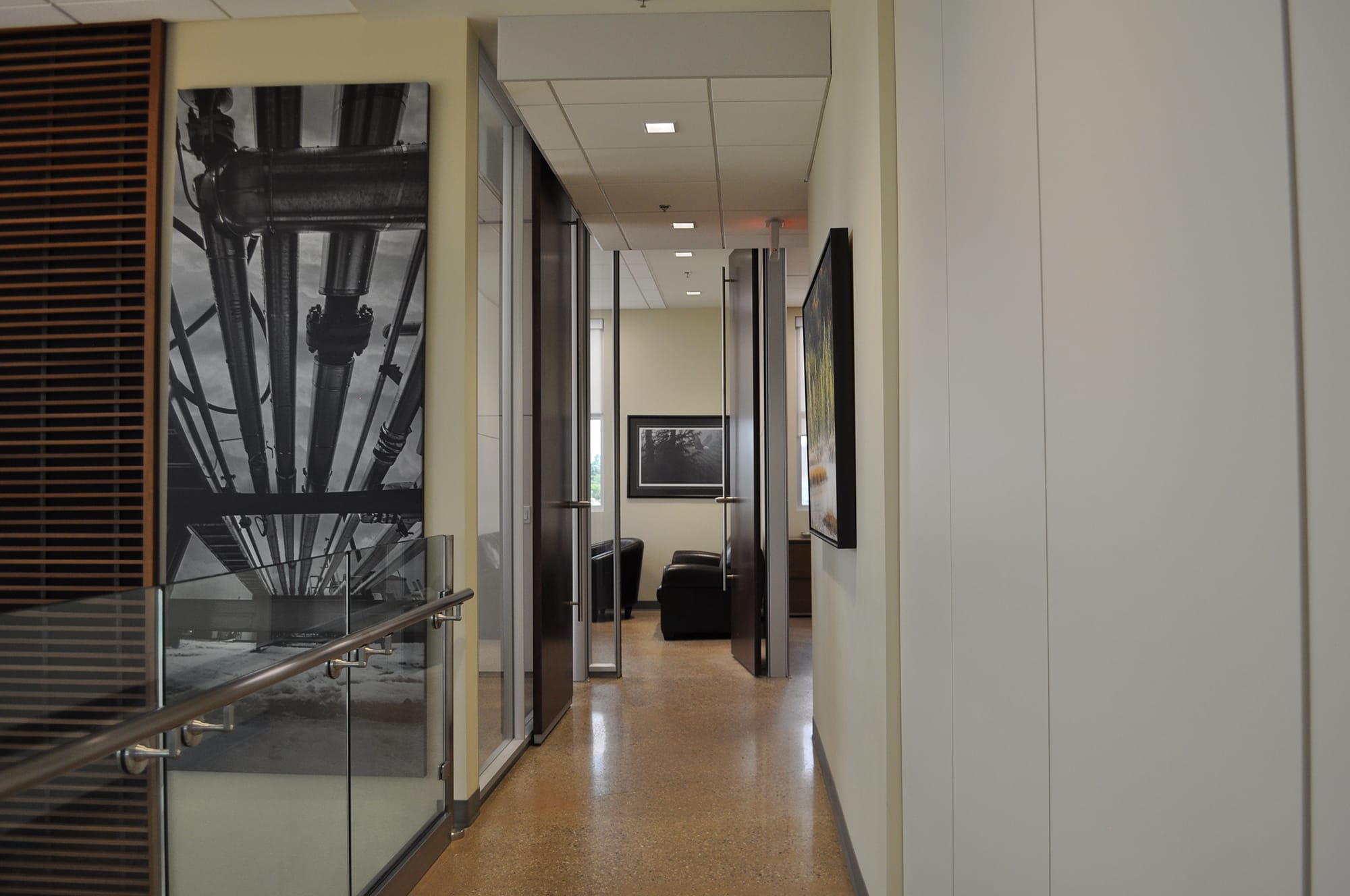 Chris Page & Associates building interior hallway