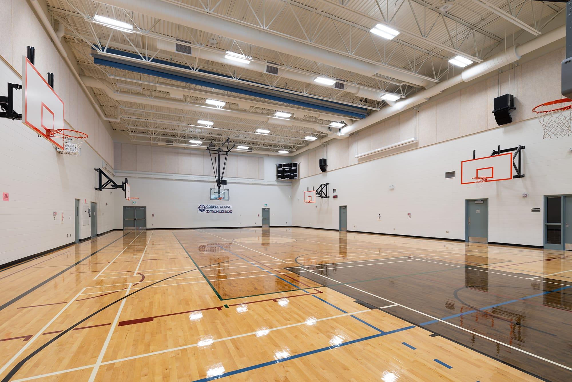 Corpus-Christi-Catholic-School interior gymnasium