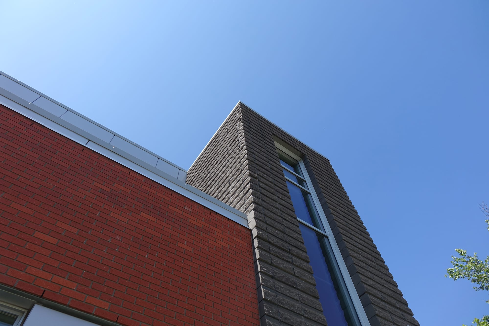 East Edmonton Health Care Centre exterior looking up towards the sky