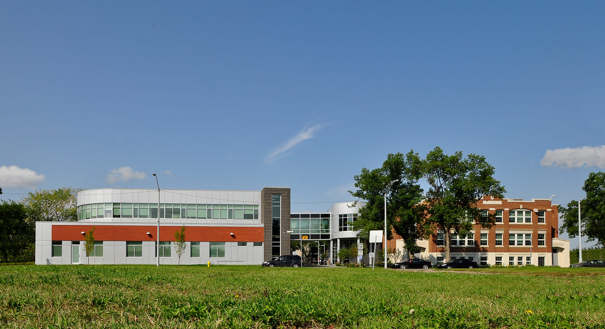 East Edmonton Health Care Centre exterior from across the lawn