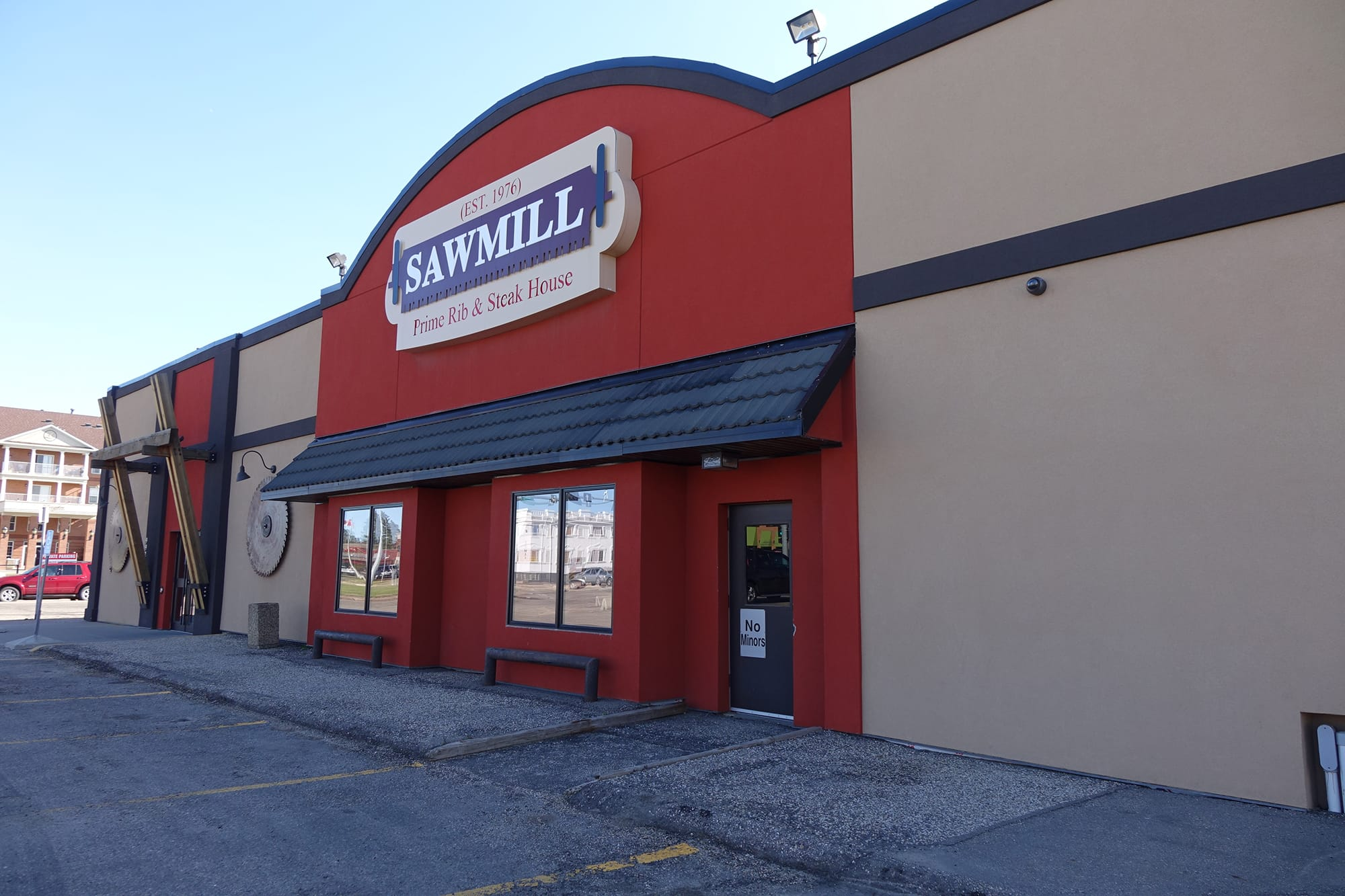 Sawmill Restaurant exterior front entrance