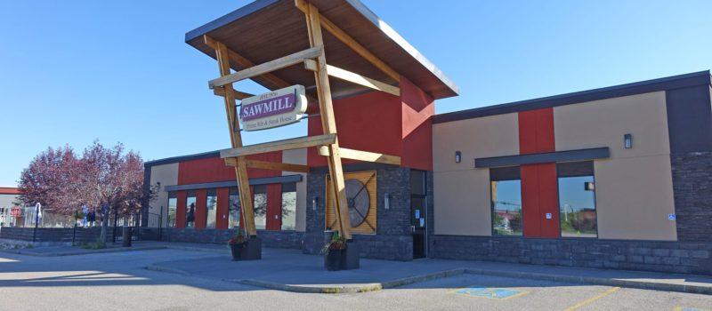 Sawmill Restaurant exterior front entrance