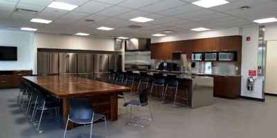 Spruce Grove Protective Services interior kitchen and meeting room