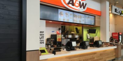 A&W restaurant front counter