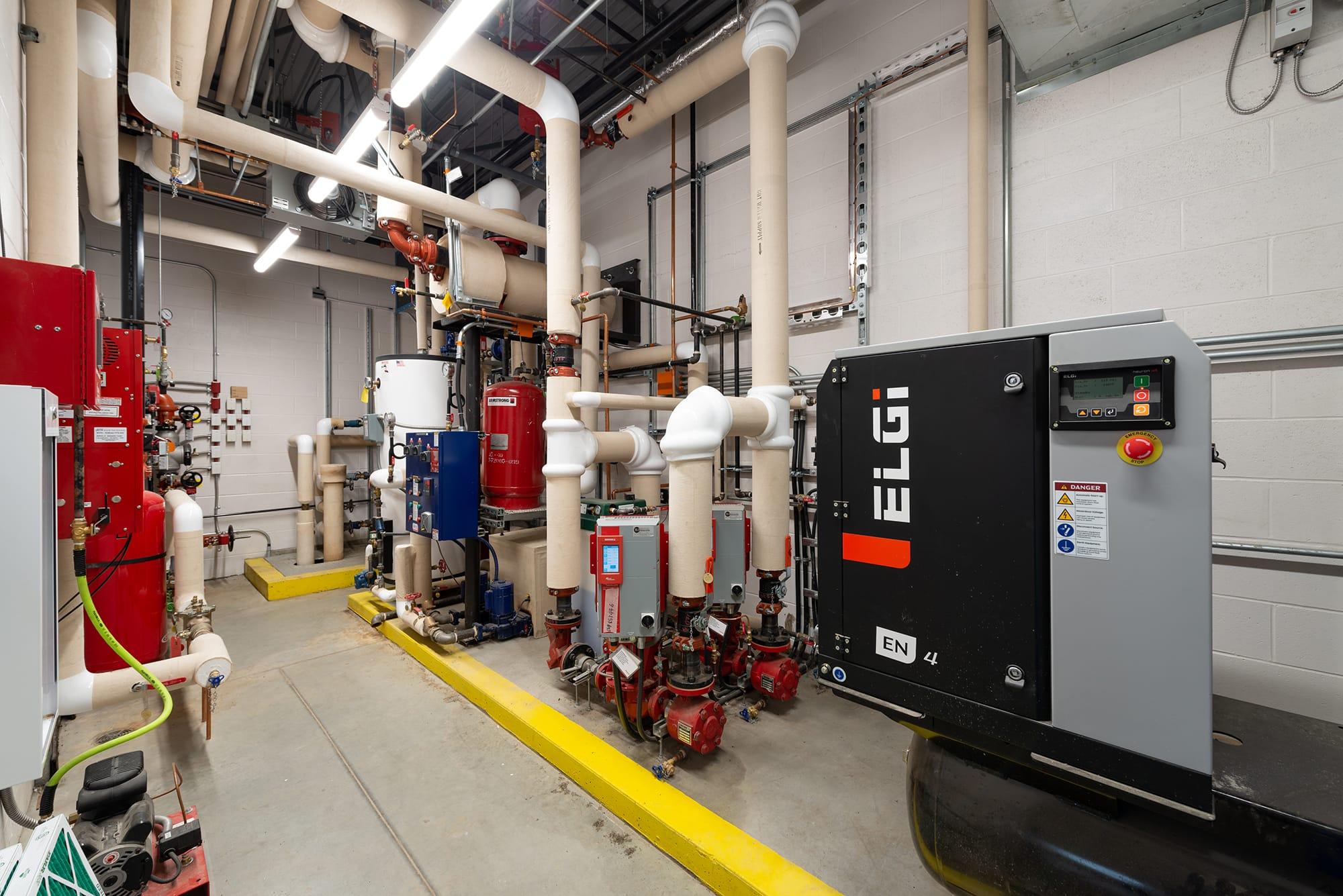 Alberta Hospital Edmonton Greenhouse mechanical room