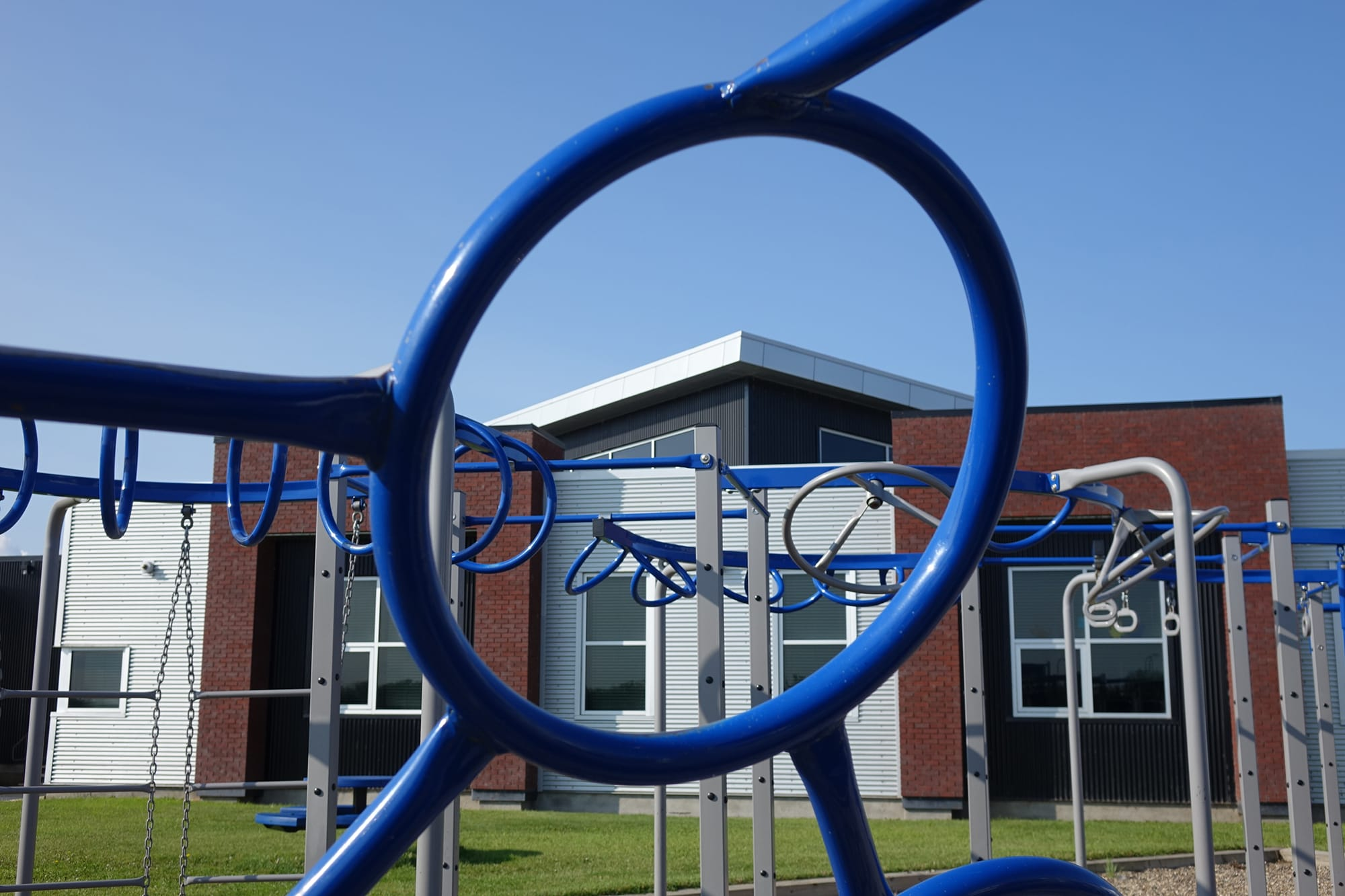 Clairmont Community School and Wellington Resource Centre from the playground