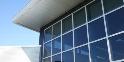 Clairmont Community School and Wellington Resource Centre exterior windows