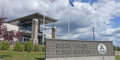 Derek Taylor Public School entrance
