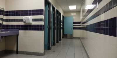 Derek Taylor Public School interior bathroom