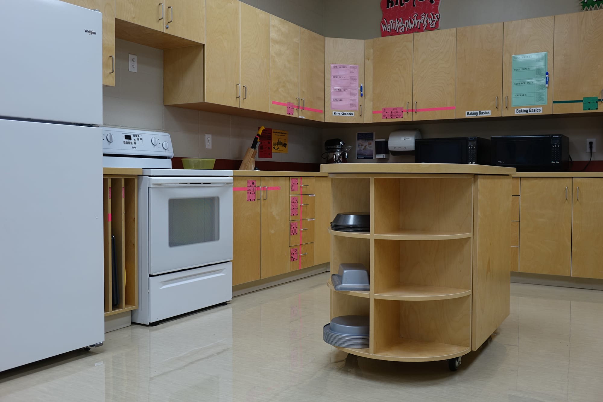 Derek Taylor Public School kitchen lab