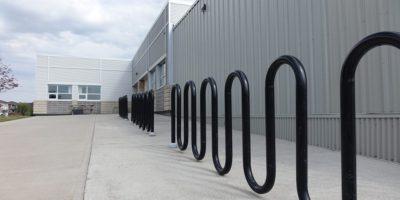 École Francophone Airdrie School exterior bike rack