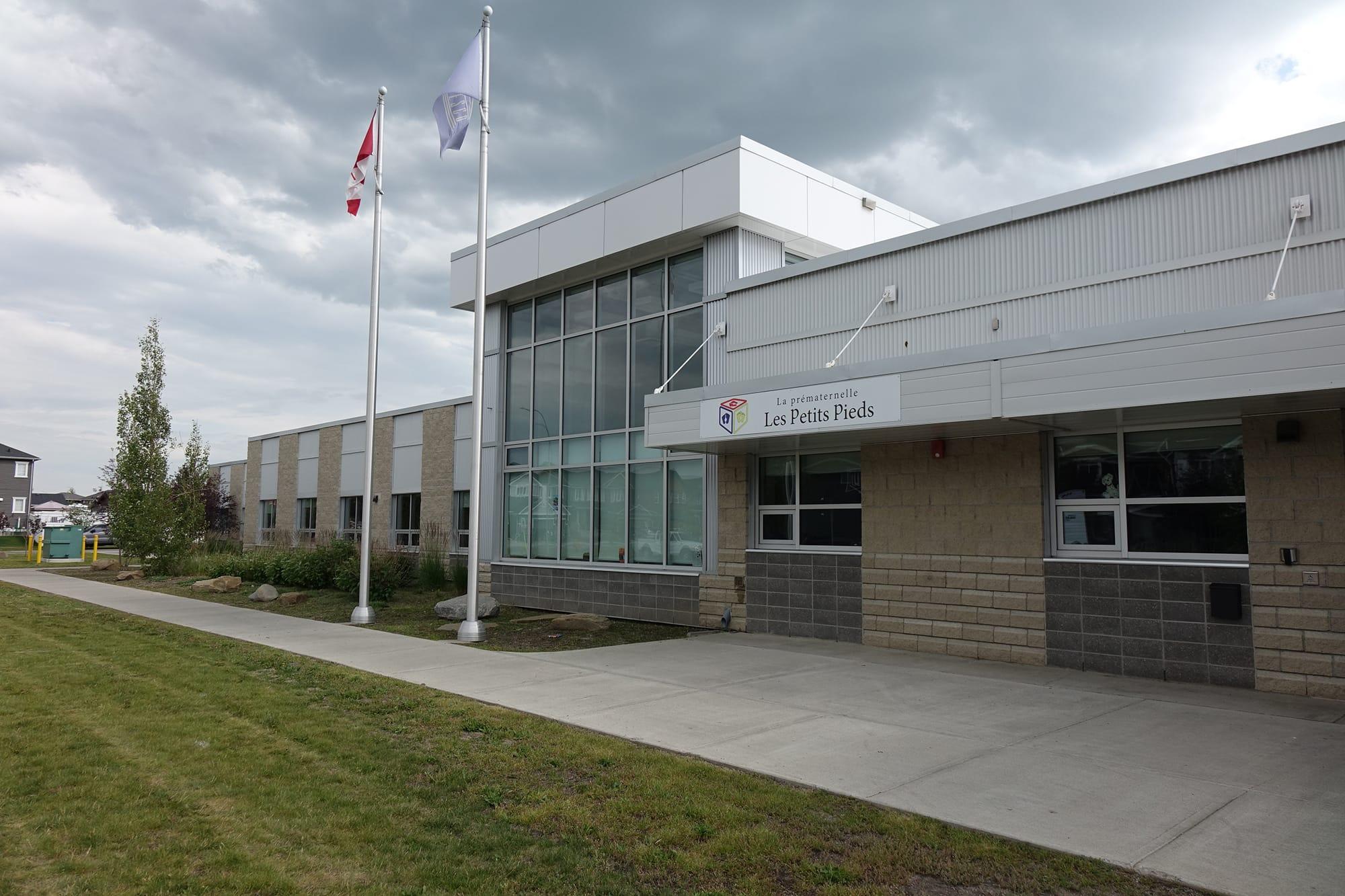 École Francophone Airdrie School exterior front entrance