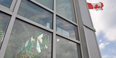 École Francophone Airdrie School exterior windows