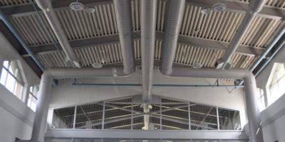 École Montrose Junior High School interior ceiling