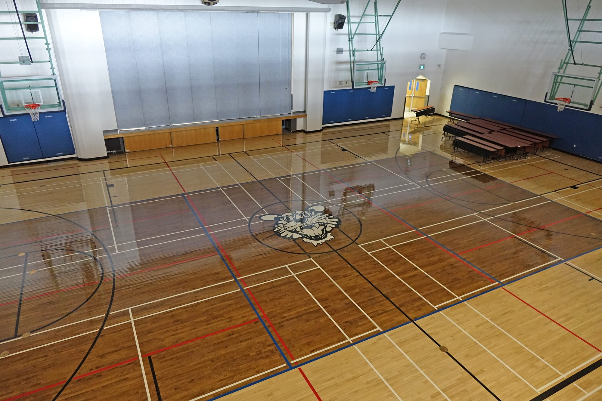 École Montrose Junior High School interior gymnasium