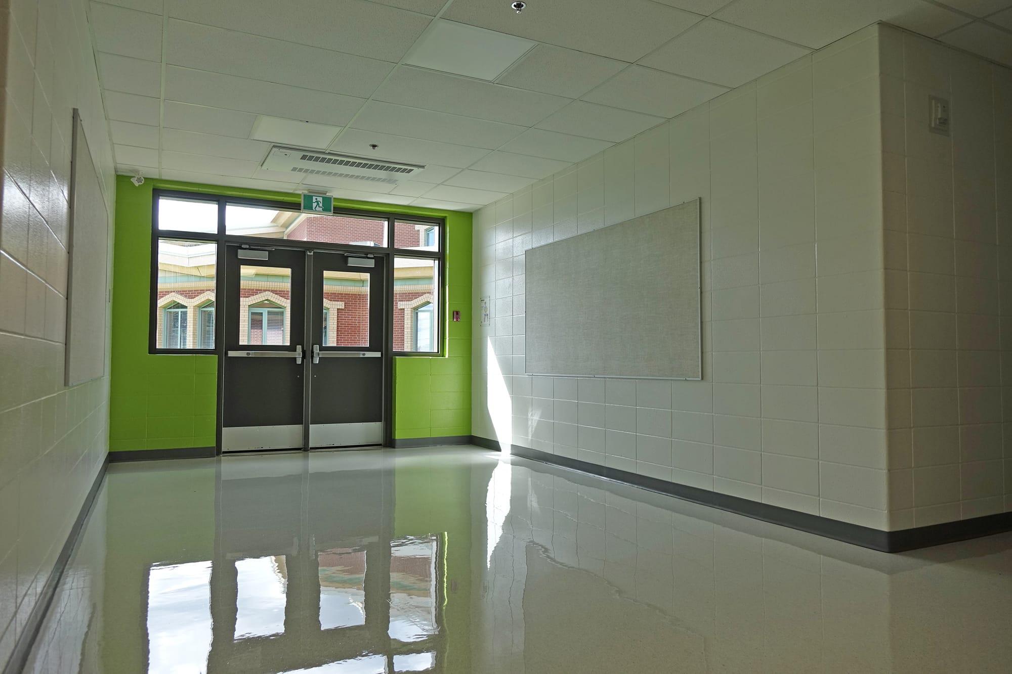 École Montrose Junior High School interior hallway