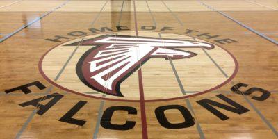 Foothills Composite High School centre court Go Falcons