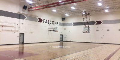 Foothills Composite High School interior of the gymnasium