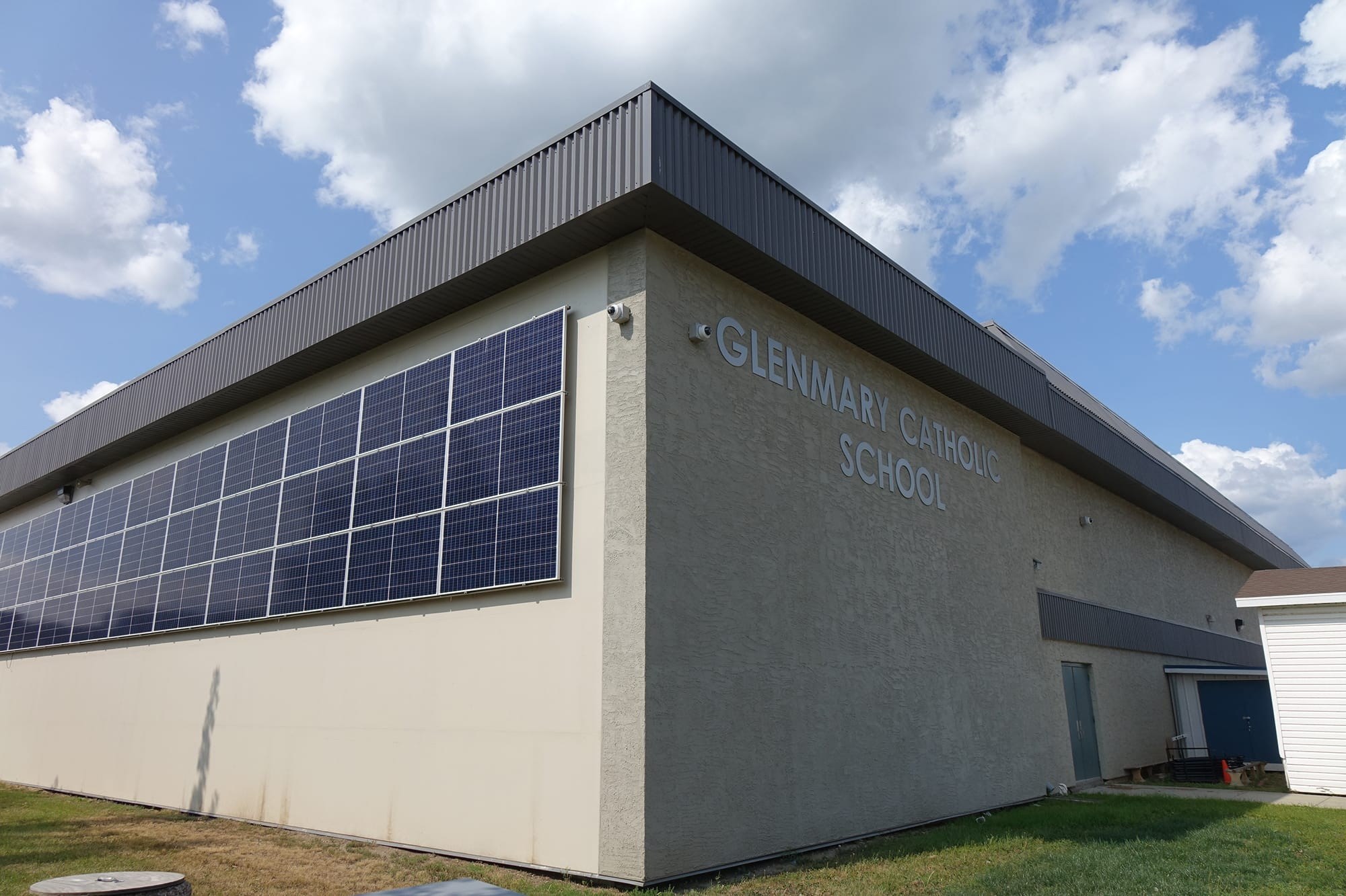 Glenmary School exterior with solar panels
