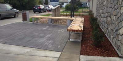 Glenmary School exterior bench