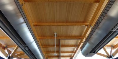 Lewis Farms Transit Centre ceiling and heating
