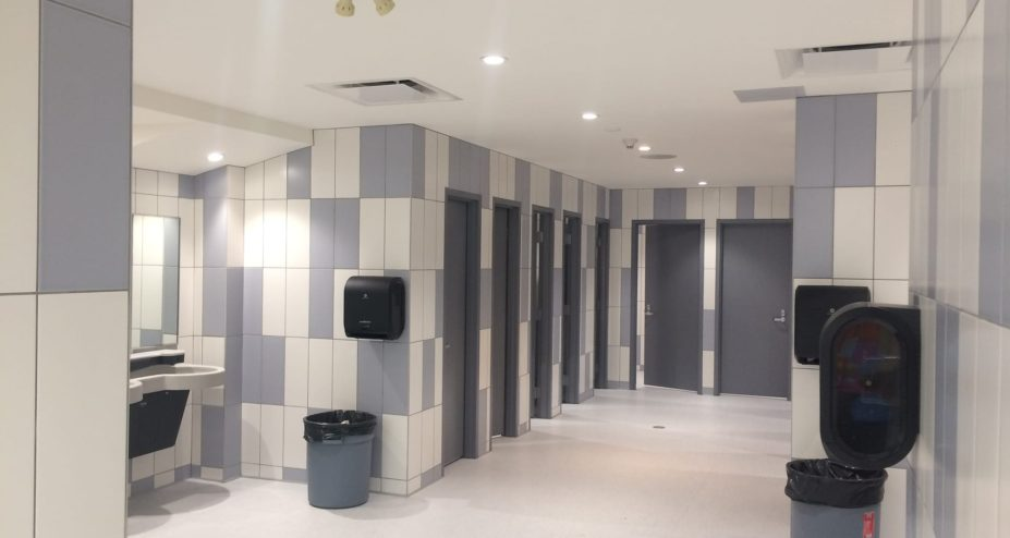 Oilfields High School bathroom renovation