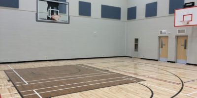 Robert W Zahara Public School interior gymnasium
