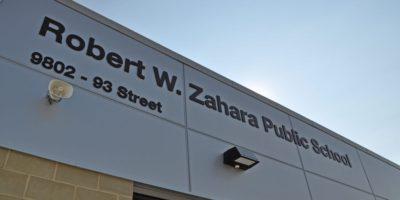 Robert W Zahara Public School exterior signage
