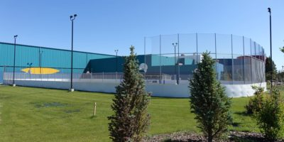Tri Leisure Centre Outdoor Arena in summer