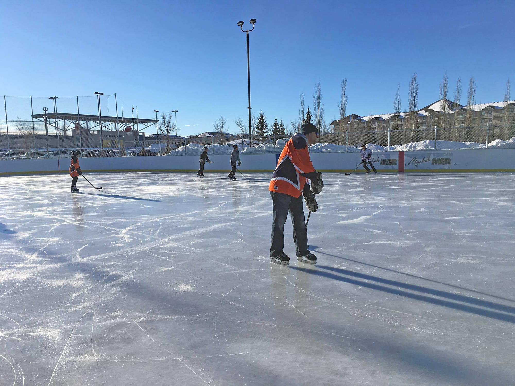 Tri Leisure Centre Outdoor Arena with hockey players