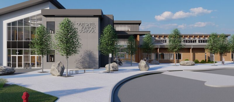 Quesnel Junior School Exterior Architect Rendering