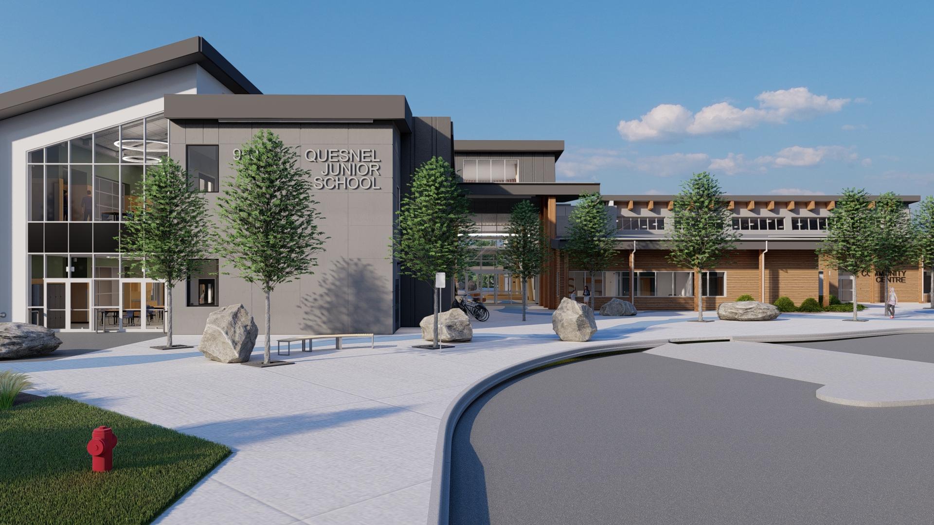 Quesnel Junior School Exterior Architect Rendering