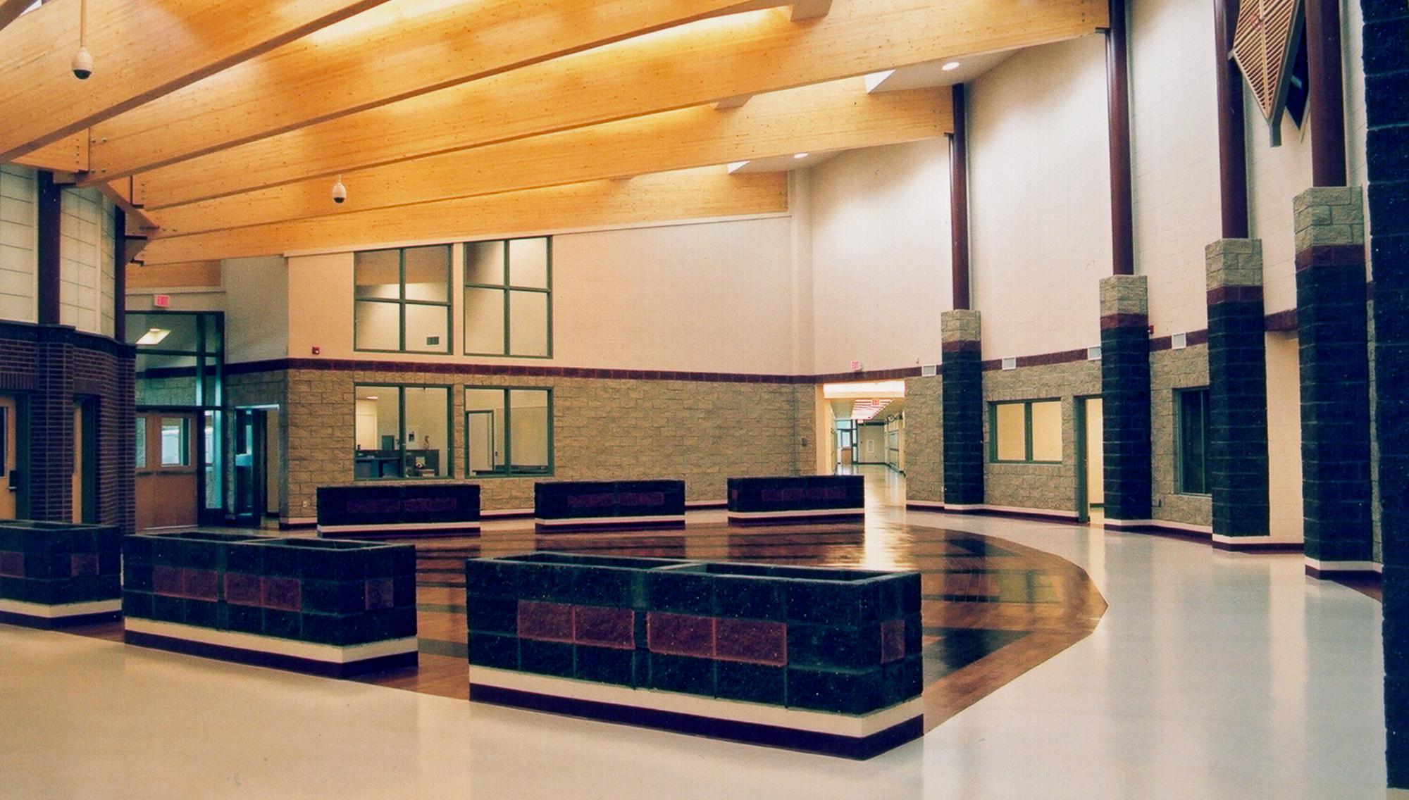 Chateh Community School interior